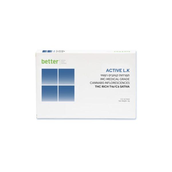 תפרחות קנאביס רפואי T15C3 סאטיבה לוליש קוש ACTIVE LK חברת בטר