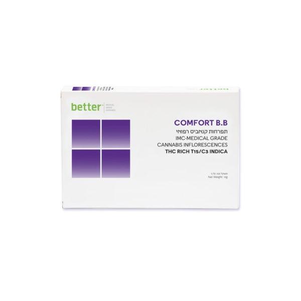 תפרחות קנאביס רפואי COMFORT B.B אינדיקה T15C3 חברת בטר
