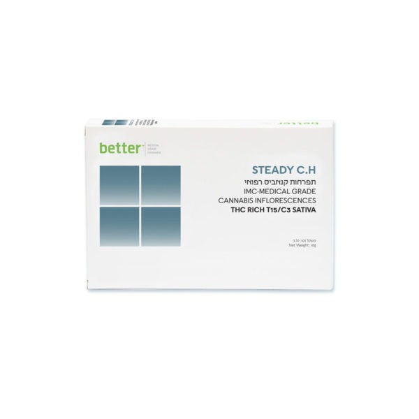 תפרחות קנאביס רפואי STEADY CHO סאטיבה T15C3 של בטר