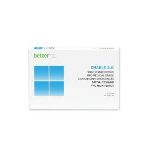 תפרחות קנאביס רפואי ENABLE AK סאטיבה T20C4 חברת בטר