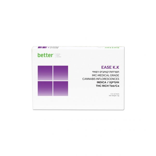תפרחות קנאביס רפואי – T20C4 Ease KK חברת בטר