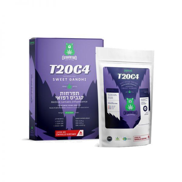 תפרחות קנאביס רפואי סוויט גנדי אינדיקה T20C4 גרין מד