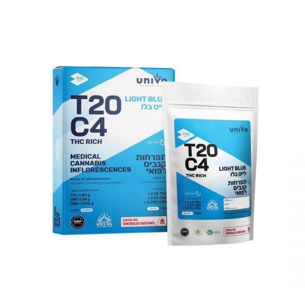 תפרחות קנאביס לייט בלו אינדיקה T20C4 יוניבו
